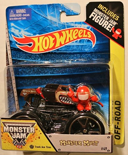 Hot Wheels Monster Jam Monster Mutt With Track Ace Tires #49