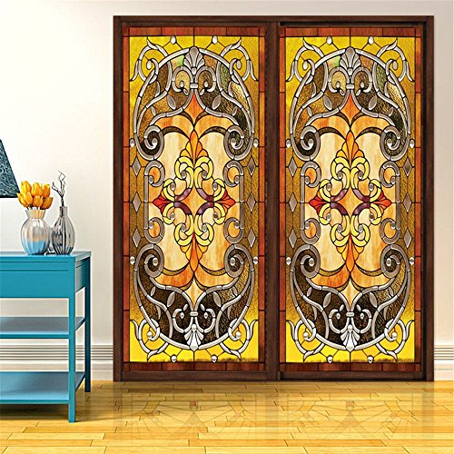 OstepDecor Custom Translucent Non-Adhesive Frosted Stained Glass Window Films 18
