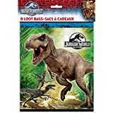 Unique Party Jurassic World Party Bags (Pack of 8)