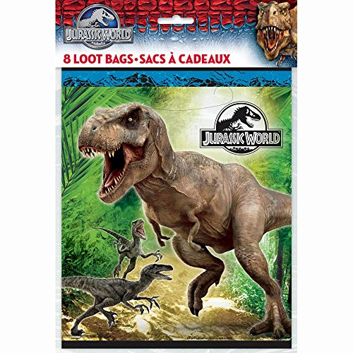 Jurassic World Favor Bags, 8ct