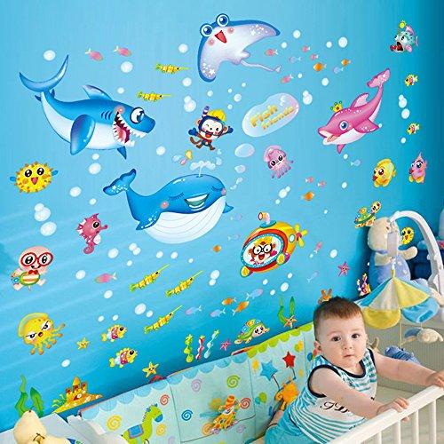 japacer-diy-wallpaper-pegatinas-de-pared-extraibles-vinilos-adhesivos-mural-de-oceano-pescados-botel