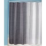 InterDesign Morph Shower Curtain, 72 by 72-Inch, Black/White
