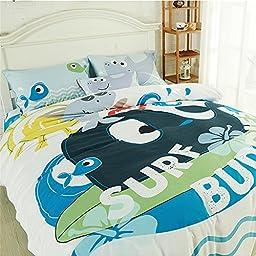 Auvoau Kid\'s Cartoon Bedding Set Kids Birthday Gift Bedding Kid Duvet Cover Set Bedding (Full, 2)
