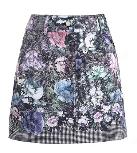 SVG Floral Printed Golf Skirt Ladies Mini Golf Skorts Purple