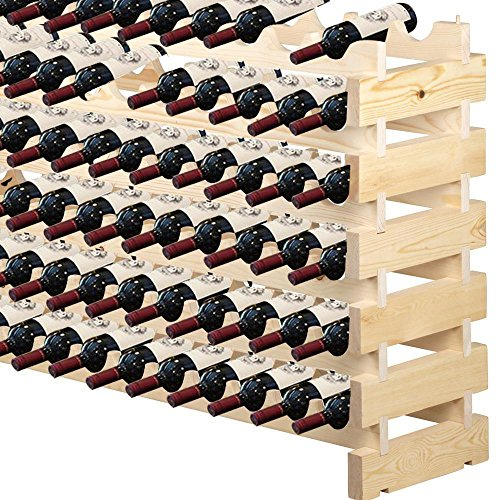 Topeakmart Wooden Stackable Wine Rack Six-Tier 72 Bottles Wine Shelf (Wooden Wine Rack Free Standing compare prices)