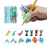 Pencil Grips for Kids Handwriting, Pen Grippers for Boys Girls, Preschool Writing Training Aid Grip, Toddler Beginners Kindergarten Writing Finger Grip, 6 Stage Posture Correction Tools(13 PCs) (Color: Color 1)