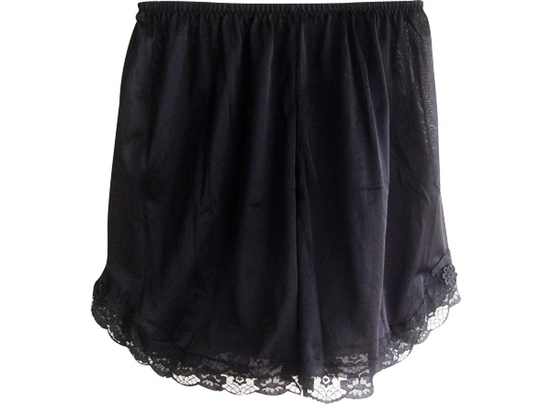 Damen Nylon Halb Slips Neu UPPNNBK BLACK Half Slips Women Pettipants Lace bestellen