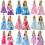 Toy - 5PCS Party Dress Wedding Clothes Gown For Disney Princess Barbie Dolls Handmade