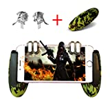 Mobile Game Controller,PUBG Mobile Controller, Android Gamepad Controller Joystick for iOS Joypad Phone (Transparent Phone Triggers and Camouflage Game Handle, Suit for 4.5-6.5 inch Phone) (Color: Camouflage)