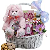 My Special Bunny Easter Gift Basket with Plush Bunny Rabbit (Select Pink or Blue)