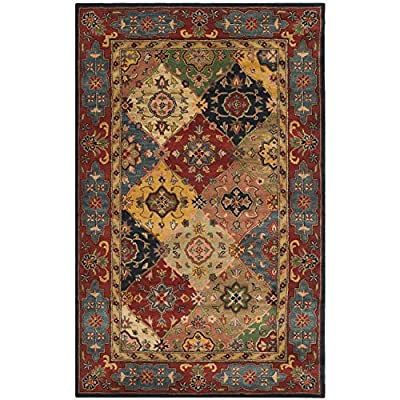 Safavieh Heritage Collection HG926A Handmade Red and Multi Wool Area Rug