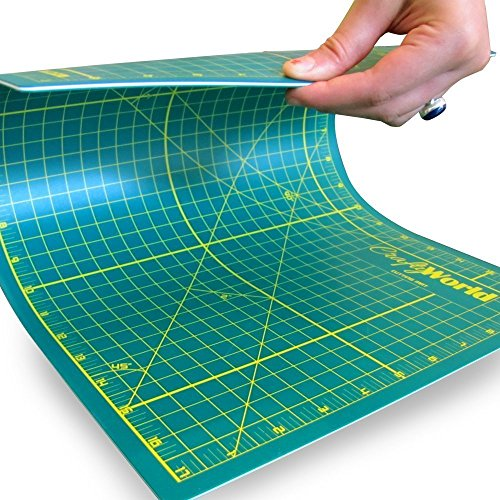 Professional Self Healing Cutting Mat 12x18 Inch for Sewing, Quilting, or Any Other Crafts or Hobbies - Thick Double Sided Cutting Mat Re-Seals After Every Cut - Strong, Durable and Long Lasting (Hobby Supplies compare prices)