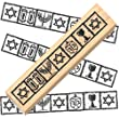 Ruth\'s Jewish Stamps Wood Mounted Rubber Stamp - Jewish Border