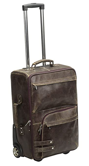"Bellino ICON Collection The Crusader 21.5"" Distressed Leather Carry On"