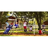 Ultimate Metal Swing Set - Includes A Slide, See Saw and 3 Swings. Swing sets Keep Your Kids Entertained For Hours. Swingset Is Suitable for Ages 2-10Yrs. Backyard Swing Sets Give Kids Some Outdoor Time and Fun Too. Enjoy Your Outdoor Play Sets