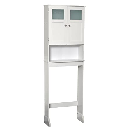Zenna Home 9880WW, Bathroom Spacesaver, Extended Height, White