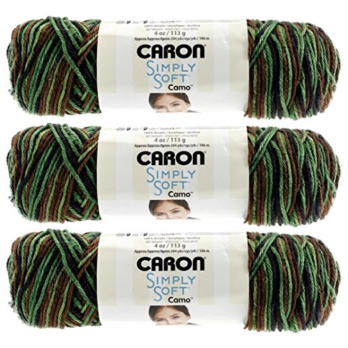 Bulk Buy: Caron Simply Soft Camo Yarn (3-Pack) Renegade Camo