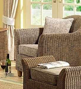 wicker chair brown conservatory furniture rattan. Black Bedroom Furniture Sets. Home Design Ideas