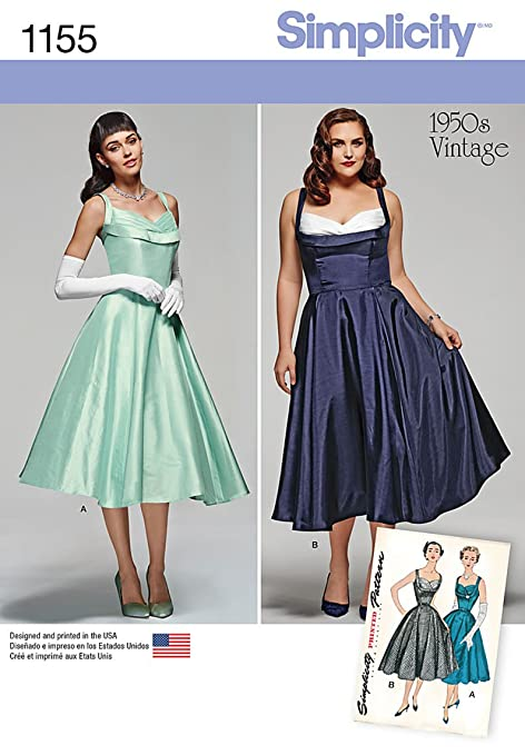 1950s Prom Dresses, Formal Dresses and Party Dresses  1950s Vintage Style Dress Sizes 20W-28W                               $3.49 AT vintagedancer.com