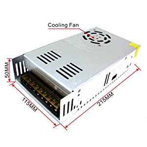 12V 50A 600W LED Driver Switching Power Supply(SMPS) Monitoring Power Supply Industrial Power Transformer 110/220VAC-DC12V (Tamaño: MEISHIS-12)