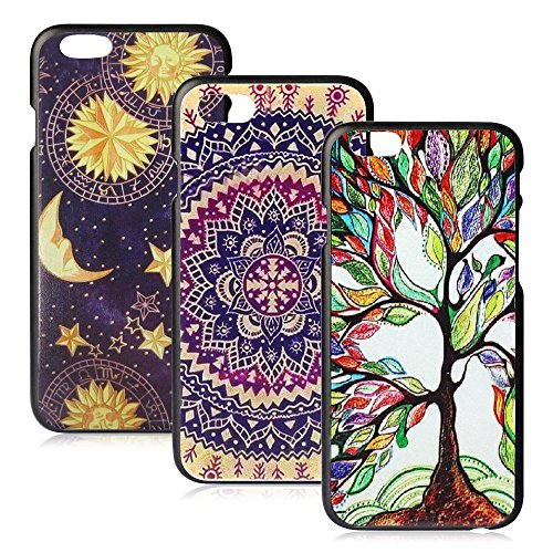 iPhone 6/6s Case, FiveBox Vintage Flowers Watercolor Artn/Love Tree/Vintage Tribal Tribe Pattern Back PC Hard Case [Scratch Resistant] Protective Skin Cover Ultra Slim Case for iPhone 6, 6s (4.7 inches) (Iphone 6 Vintage Case compare prices)