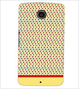 PrintDhaba I Love You Pattern D-1916 Back Case Cover for MOTOROLA GOOGLE NEXUS 6 (Multi-Coloured)
