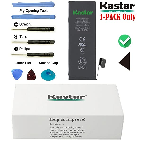Kastar Battery for iPhone 5 (5G), Replacement Internal Li-ion Polymer Battery 3.8V 1440mAh, Compatible with GSM & CDMA iPhone Models A1428 / A1429 / A1442