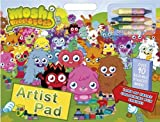 Moshi Monsters Artist Pad Colouring Book Crayons Reusable Stickers