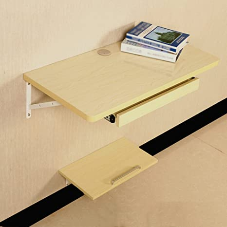 ZXLDP Mesa De Pared Escritorio De Mesa De Escritorio Mesa De Colgar De La Pared Tabla Lateral Tamaño Del Color Opcional ( Color : White maple color , Tamaño : 120*40cm )