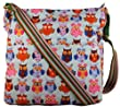 Monty Owl Print Crossbody Bag in Light Blue -- SWANKYSWANS�