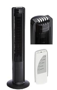 Säulenventilator Black + Fernbedienung + Timer + Drehbar   Rezension