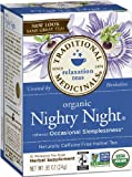 Traditional Medicinals Organic Nighty Night, 16-Count Boxes (Pack of 6)