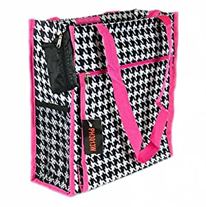 Houndstooth Pink Tote Bag Diaper School Lunch Dance Purse Gym Cheer Shopping HOT from auija