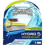 Wilkinson Lames pour Rasoir Hydro 5 Power Select Chargeur de 4 Lames