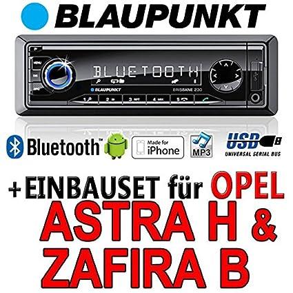 Opel astra h, zafira b-bLAUPUNKT brisbane 230/mP3/uSB avec kit de montage autoradio avec bluetooth