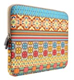 PLEMO Bohemian Style Canvas Fabric 13-13.3 Inch Laptop / Notebook Computer / MacBook / MacBook Pro / MacBook Air Sleeve Case Bag Cover, Sunlight Garden