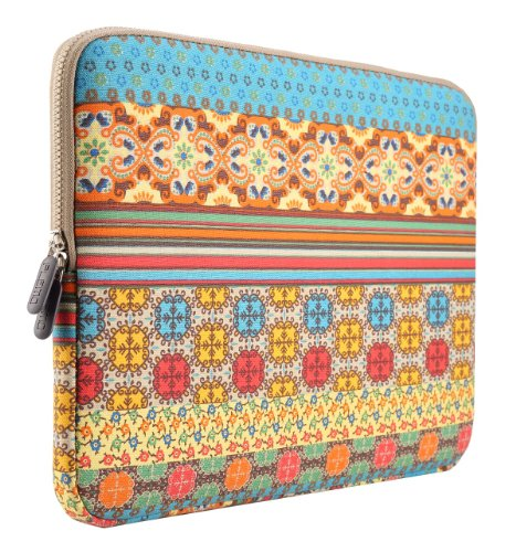 PLEMO Bohemian Style Canvas Fabric 11-11.6 Inch