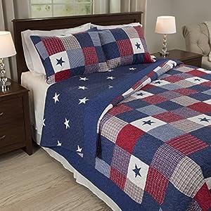 Lavish Home Caroline 3 Piece Quilt Set - Full/Queen