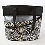 Ladies Reversible Insulated Lunch Tote, Cheetah Snow/Taupe Reptile