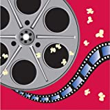 Creative Converting Reel Hollywood Luncheon Napkins, 16-Count, Movie Reel