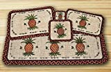 Earth Rugs Pineapple Design Rectangle Wicker Weave Placemat, 13 by 19