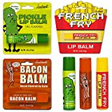 Bacon Lip Balm, Dill Pickle Lip Balm & French Fry Lip Balm - (Pack of 3) Gift Set