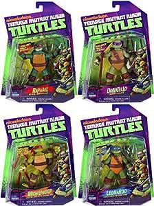Amazon.com: Nickelodeon Teenage Mutant Ninja Turtles Set ...Ninja Turtles Toys Nick