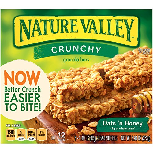 Nature Valley Crunchy Granola Bars - Oats 'n Honey - 8.9 oz - 12 ct (Honey Bar compare prices)