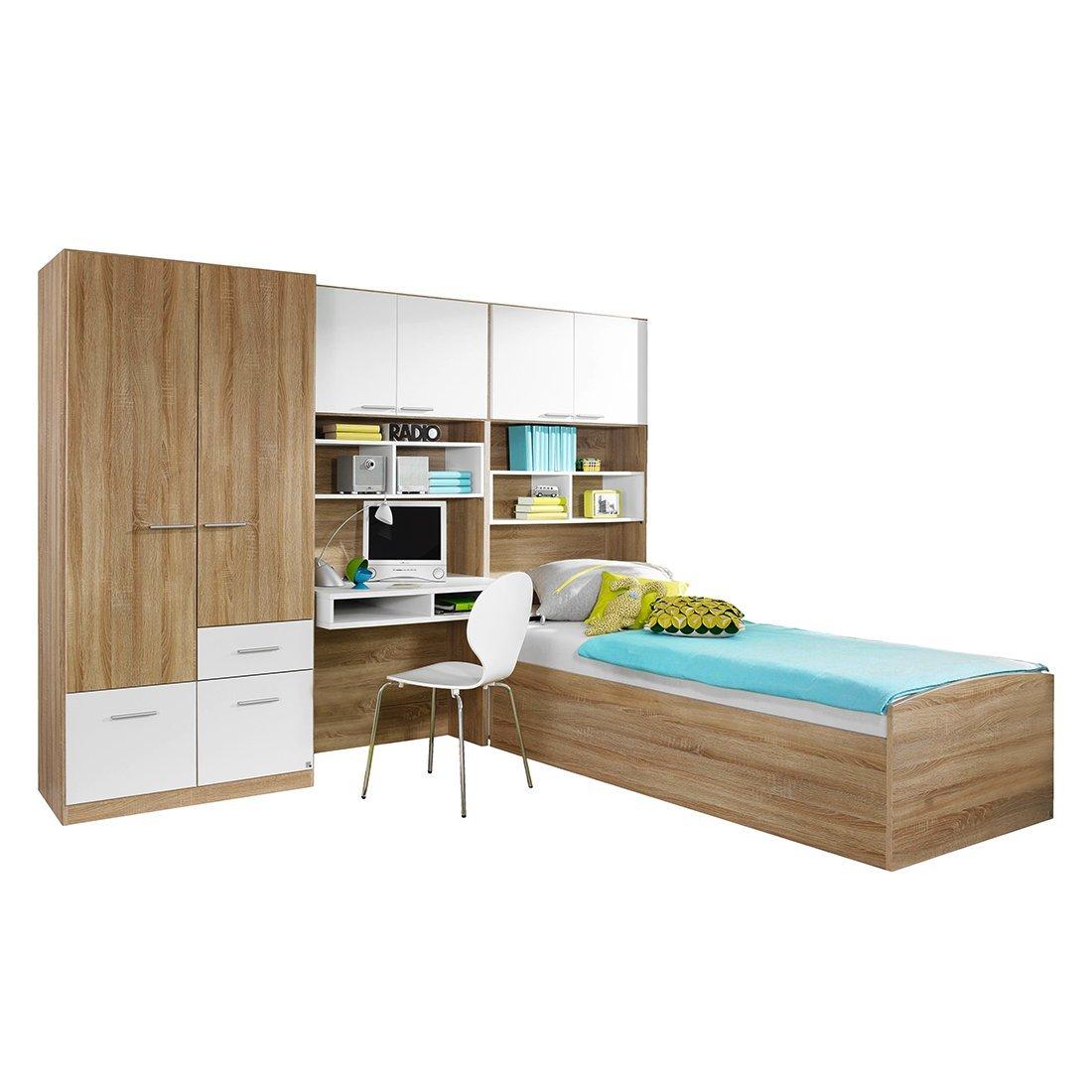 Jugendzimmer »CODIE221« Eiche Sonoma Nachbildung, alpinweiß