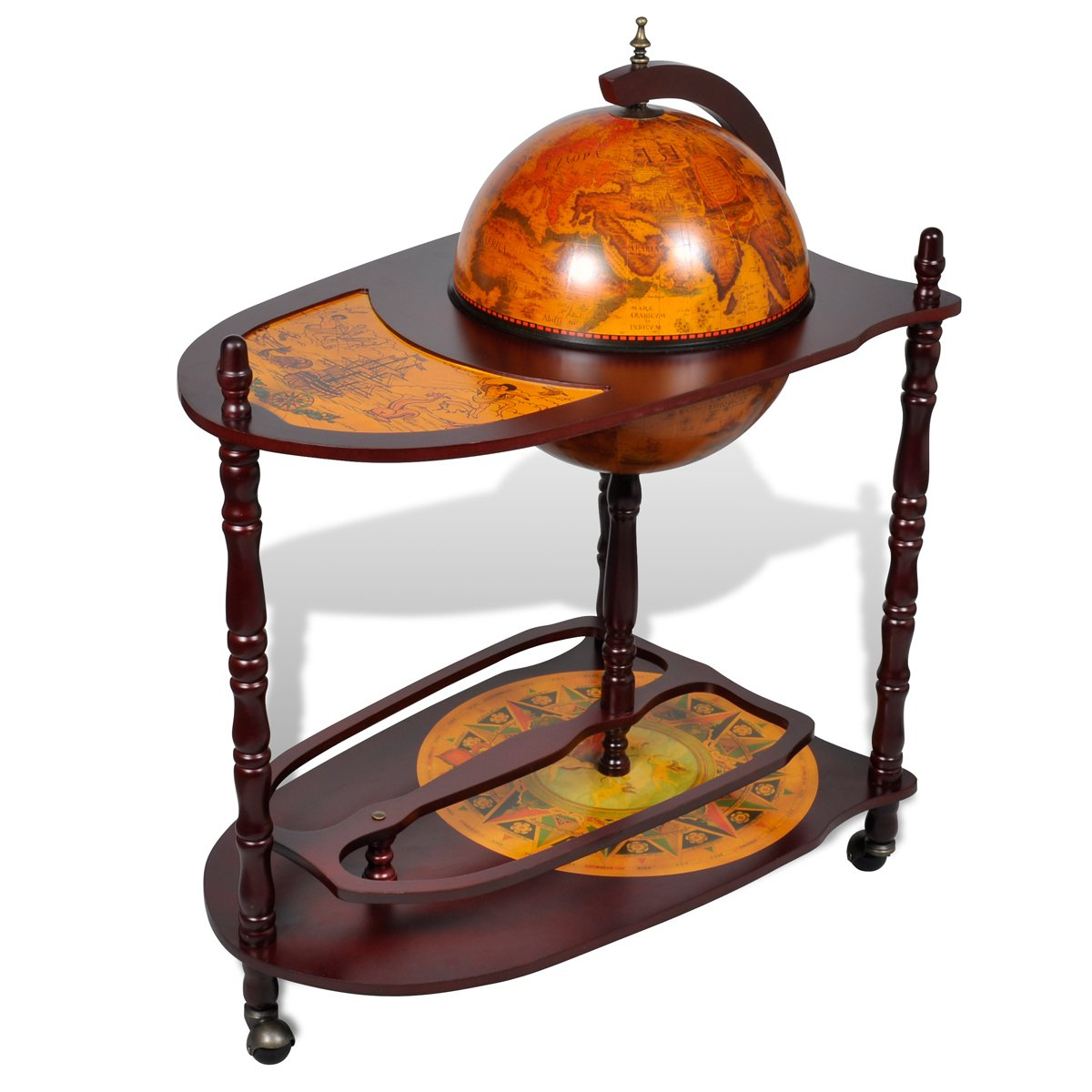 Globe Bar Cabinet with Table Trolley       Customer reviews and more information