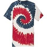 Koloa Surf CO.(TM) colorful Tie-Dye T-Shirt,2XL-USA Rainbow