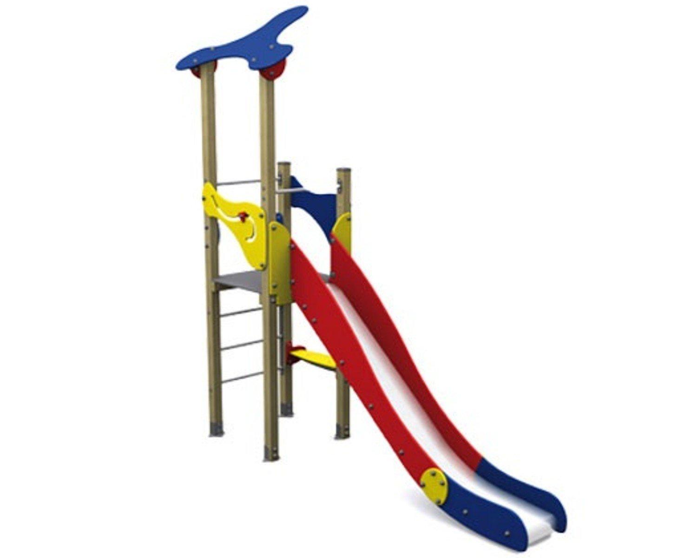 Spielturm KLASSIK I mit Rutsche - für öffentliche Spielplätze & Einrichtungen