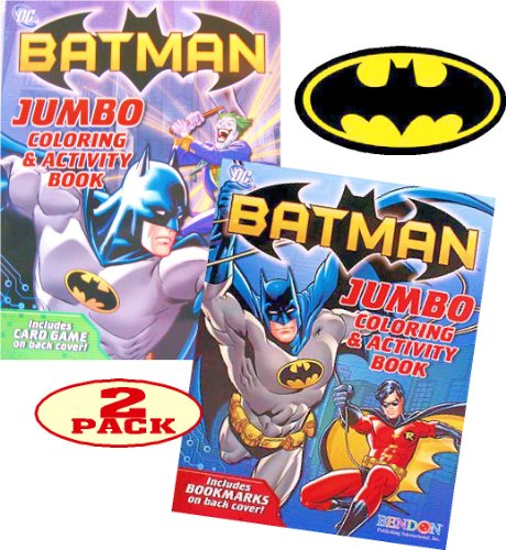 BATMAN Coloring and Activity Book Set (2 Coloring Books) - 1
