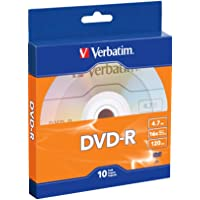 10-Pack Verbatim 4.7GB/120 16X DVD-R Disc(s) Spindle (Bulk)
